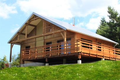 Cuny construction maisons ossatures bois chalets for Construction bois vosges
