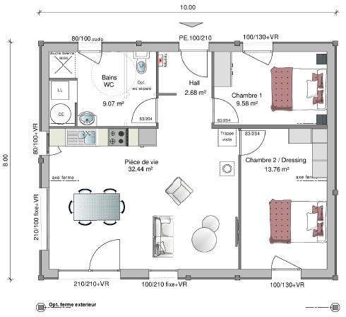 Cuny construction maisons ossatures bois chalets for Petits plans de chalet