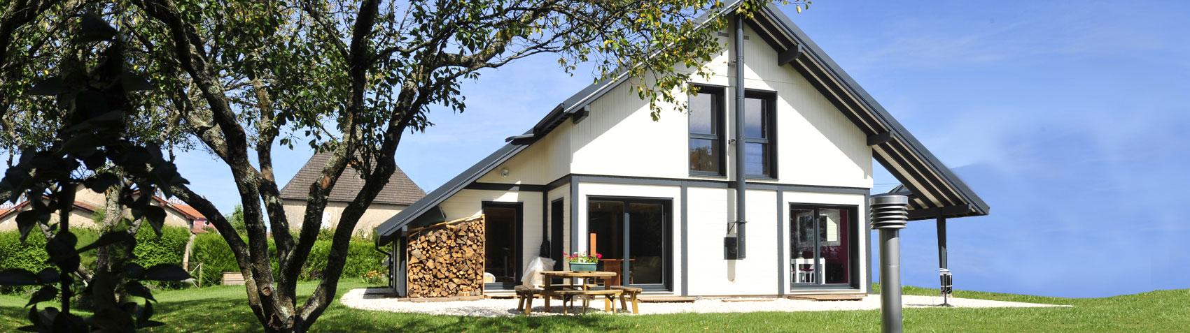 Cuny construction maisons ossatures bois chalets for Constructeur maison en bois haute saone