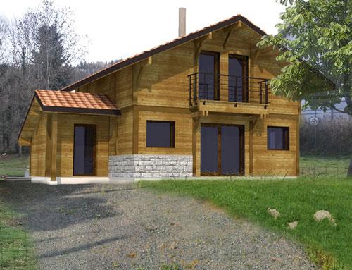 Belle habitation type chalet avec bardage en bois