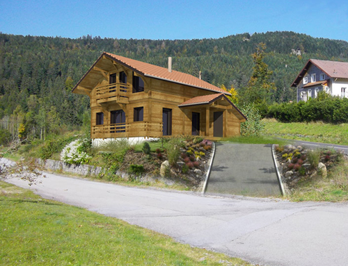 Chalet traditionnel et bardage