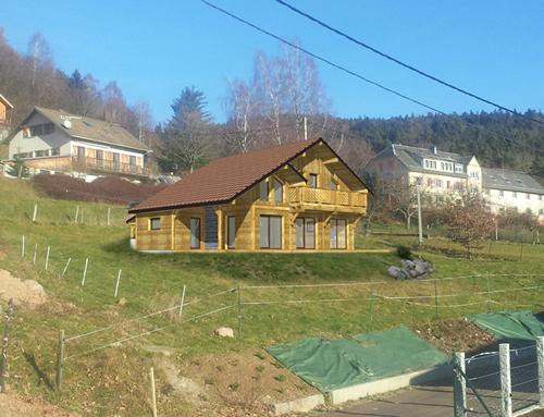 Maison à ossature bois - aspect chalet