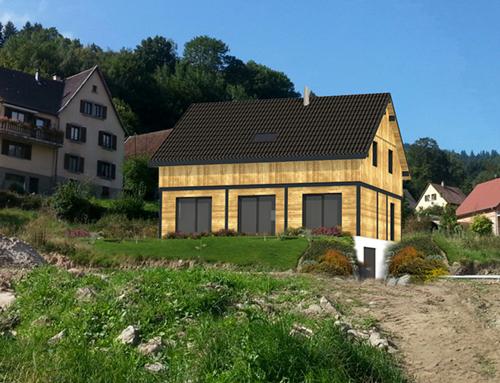 Maison à ossature bois, bardage bois