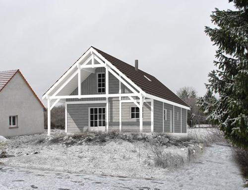 Maison à ossature bois et bardage Canexel