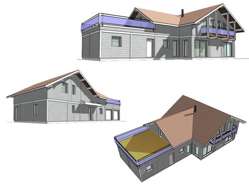 projet de maison à ossature bois