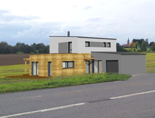 Maison cubique à ossature bois