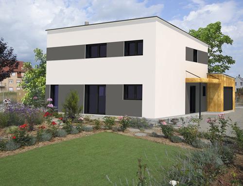 Maison cubique design moderne