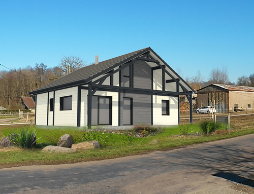 Maison moderne en bardage canexel nos projets maison 2 pans for Bardage maison contemporaine