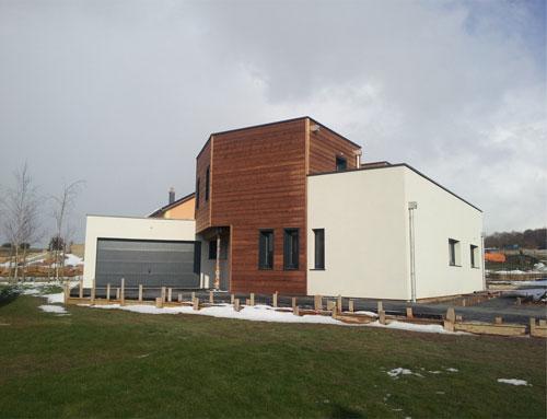 maison d 39 architecte bois cubique avec toit plat nos maisons ossatures bois maison cubique. Black Bedroom Furniture Sets. Home Design Ideas