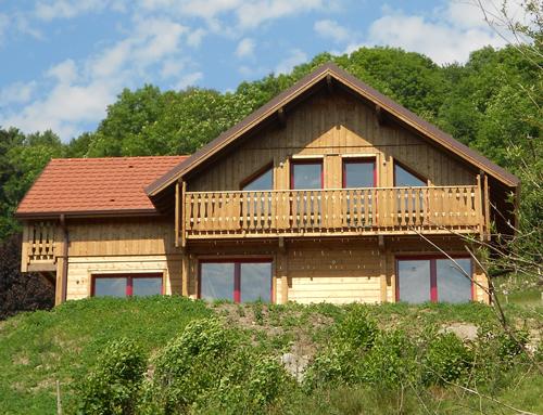 Maison bois style chalet Nos maisons ossatures bois 68  HautRhin