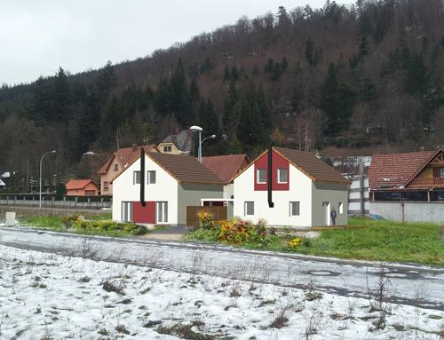 Maisons jumelées à ossature bois