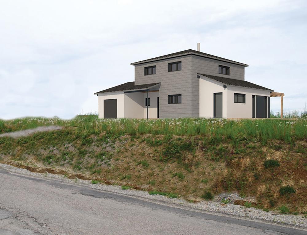 Maison moderne ossature bois nos projets maison moderne for Projet maison moderne