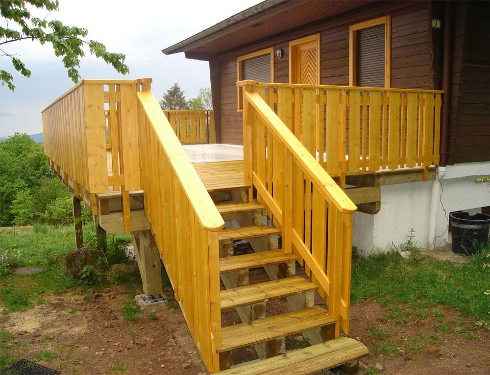Am nagement terrasse r novation et extensions maison ou for Extension chalet bois
