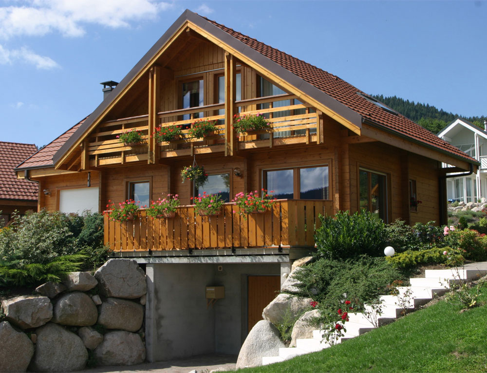 Chalet contemporain et volutif nos chalets en bois chalet 2 pans for Chalet design contemporain