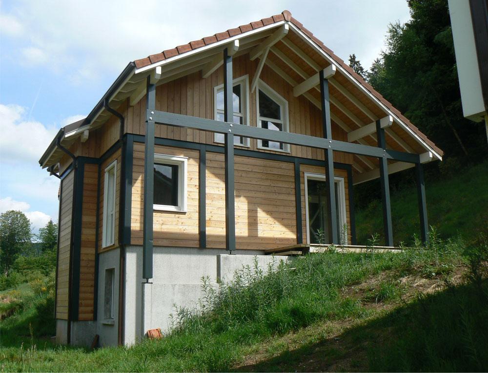 Best ossature bois poteau poutre contemporary for Construction bois vosges