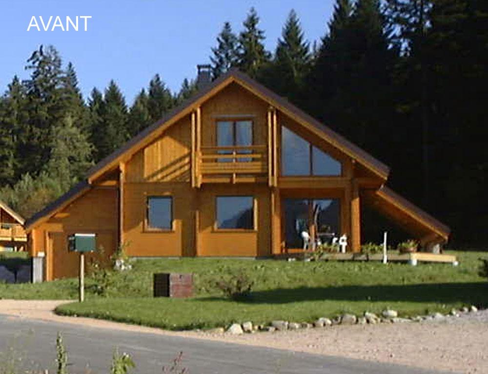 Agrandissement sur chalet r novation et extensions maison for Extension chalet bois
