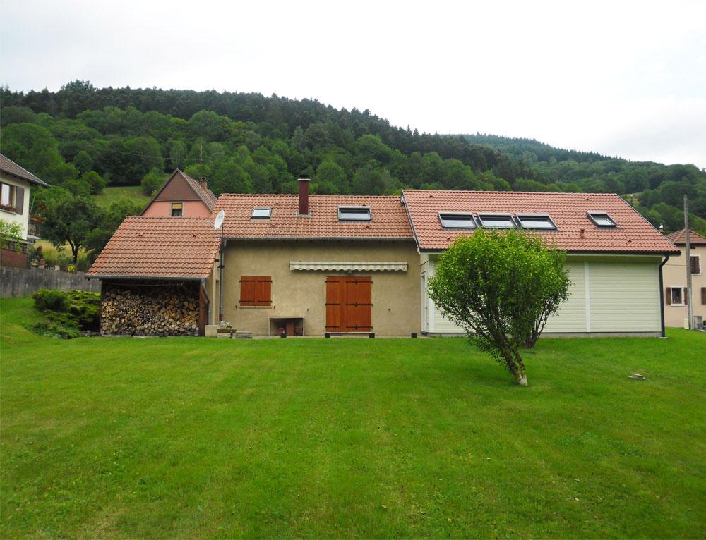 Agrandissement sur maison traditionnelle r novation et for Extension chalet bois