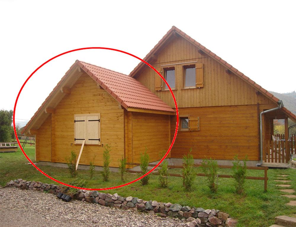 Agrandissement sur un chalet cuny de 2003 r novation et for Extension chalet bois