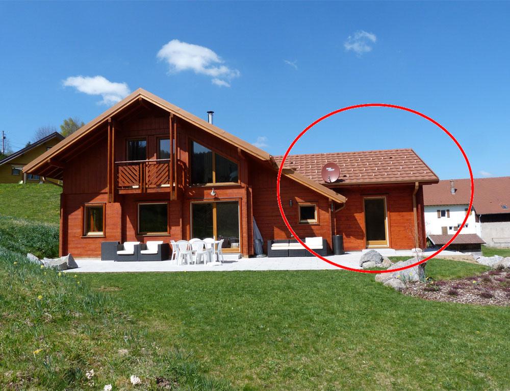 Agrandissement sur chalet cuny de 2010 r novation et for Agrandissement maison avec un container