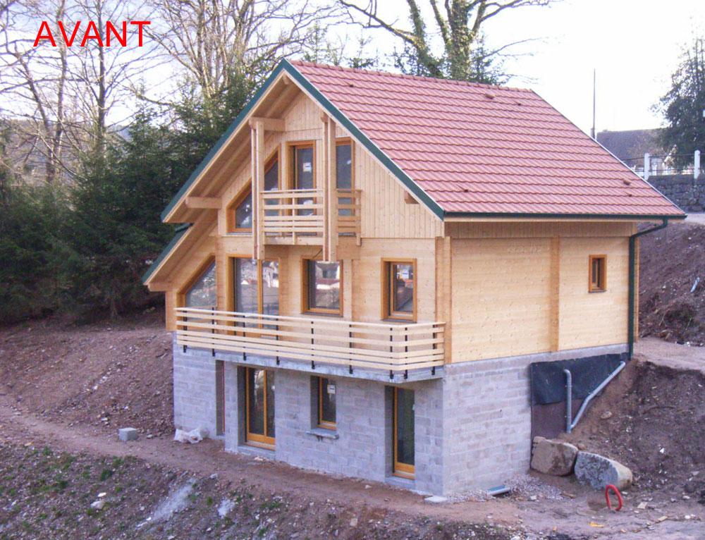 Agrandissement d 39 une terrasse c t lat ral r novation et for Extension chalet bois