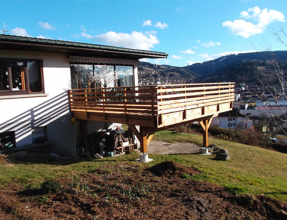 Création d\'une terrasse sur maison traditionnelle Rénovation et ...