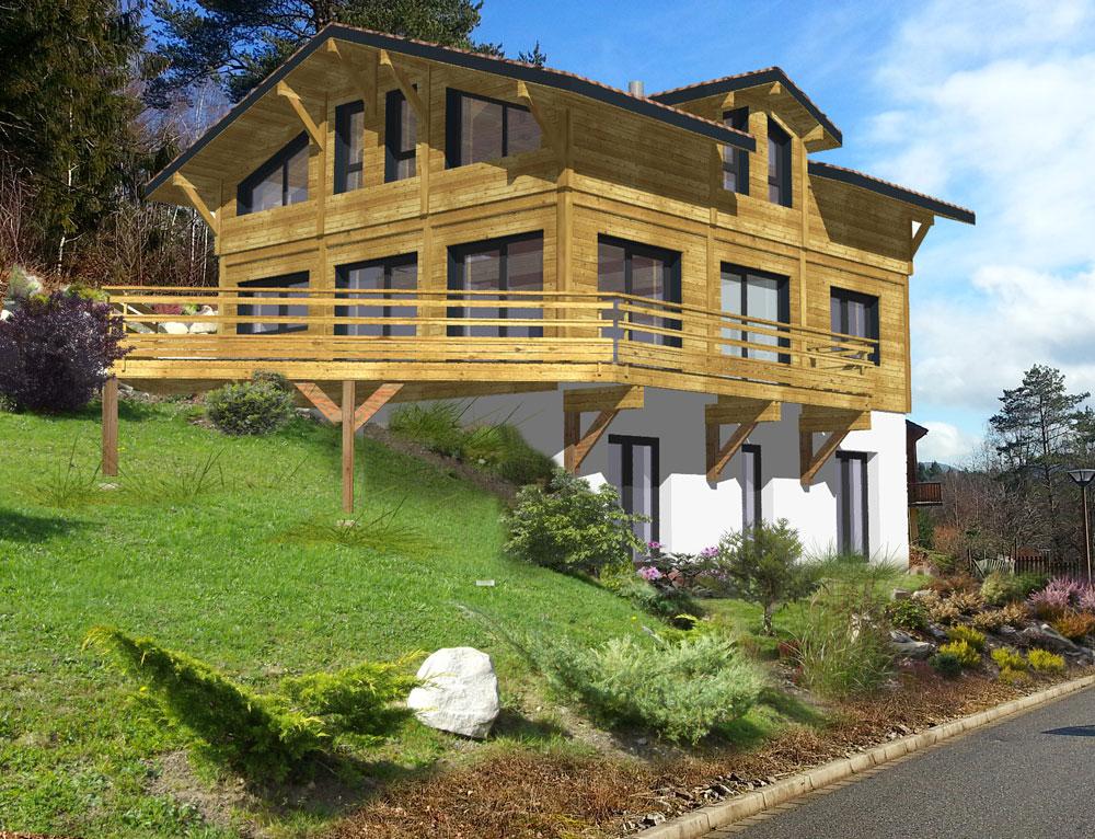 Magnifique chalet traditionnel en bardage bois nos projets for Constructeur chalet prix