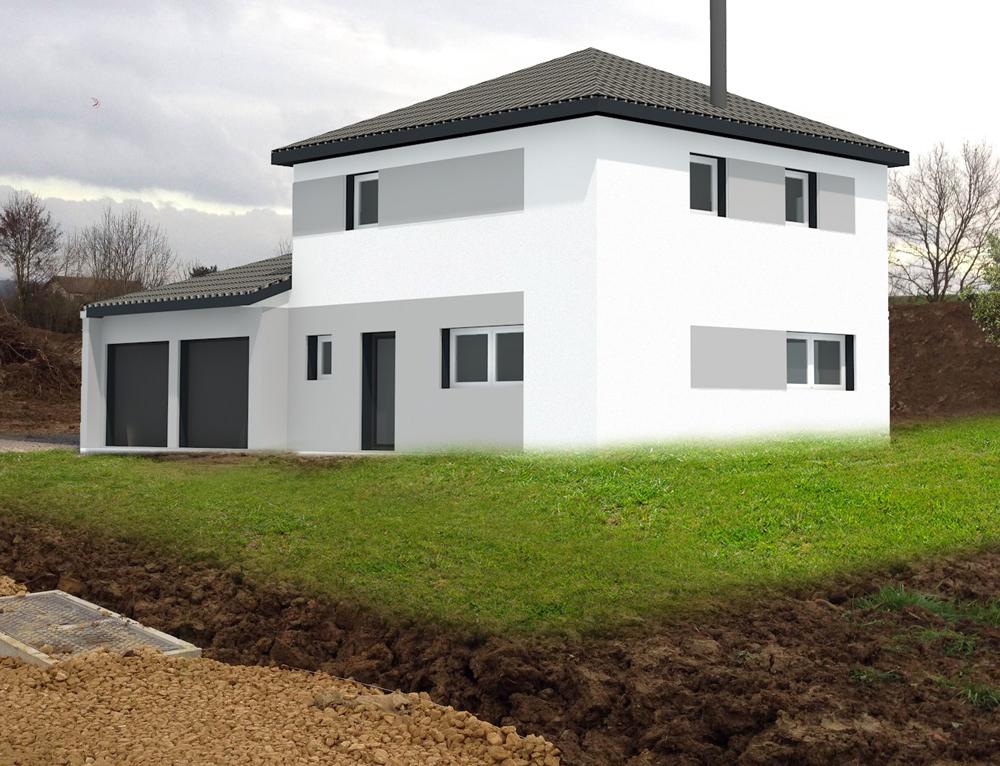 Exciting maison moderne ossature bois ideas best image for Maison cubique ossature bois