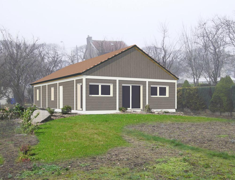 Maison de plain pied bardage canexel nos projets maison - Grande maison plain pied ...