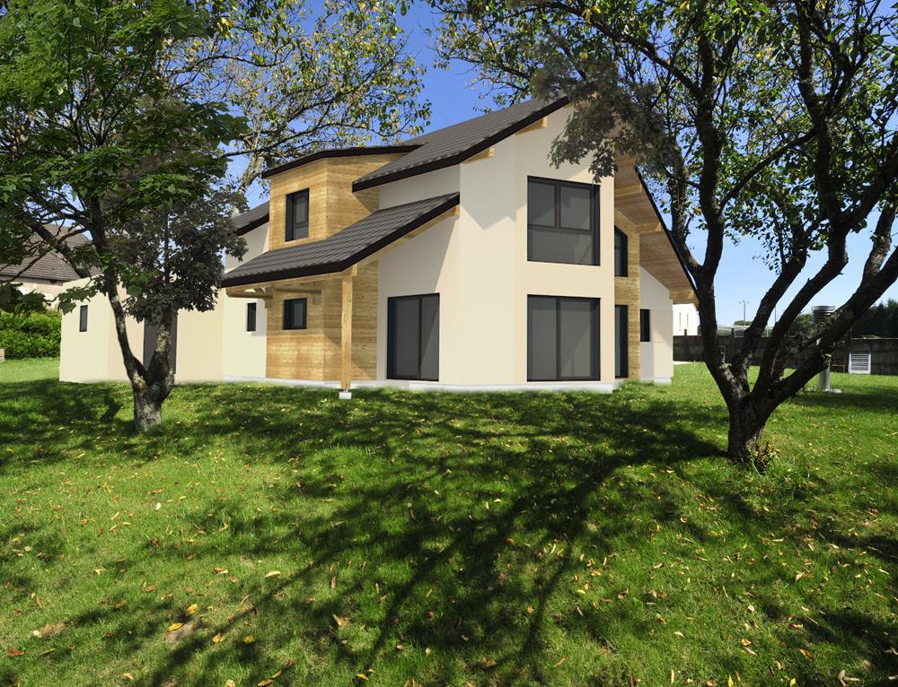 Grande maison moderne ossature bois nos projets maison Maison cubique ossature bois