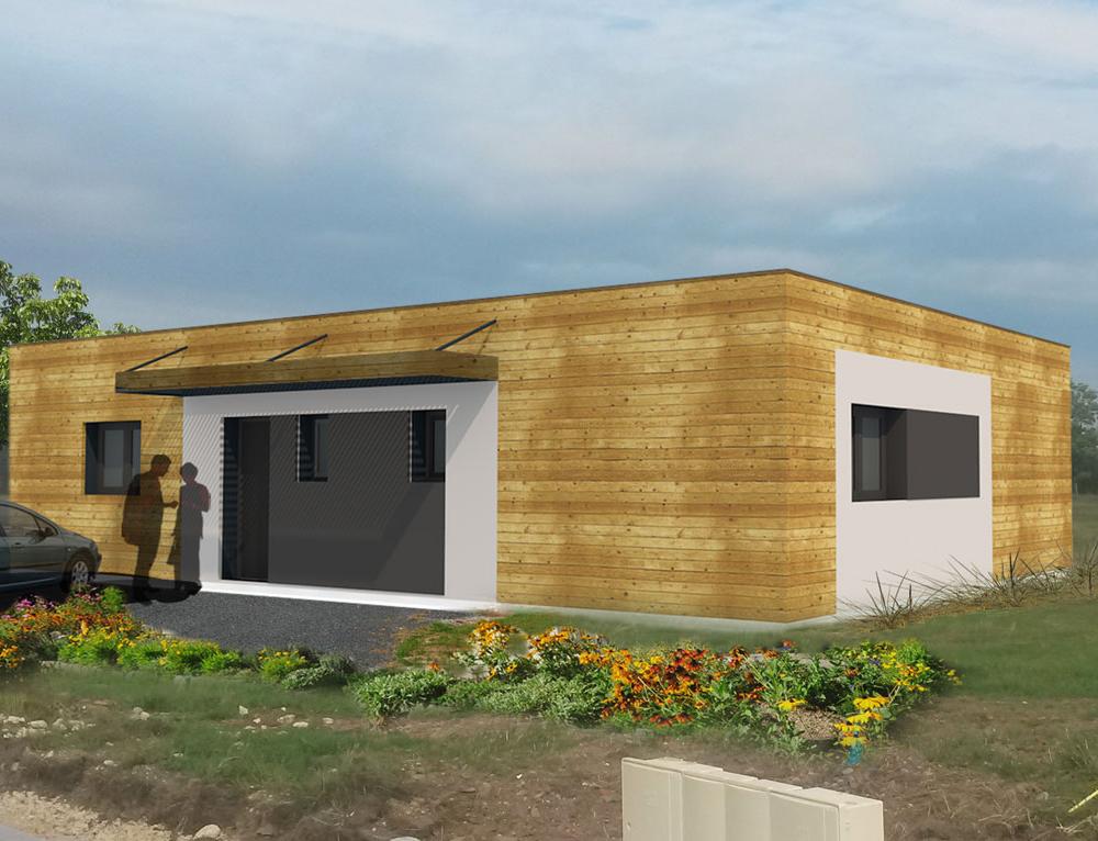 Maison Moderne A Toit Plat Et Ossature Bois Nos Projets