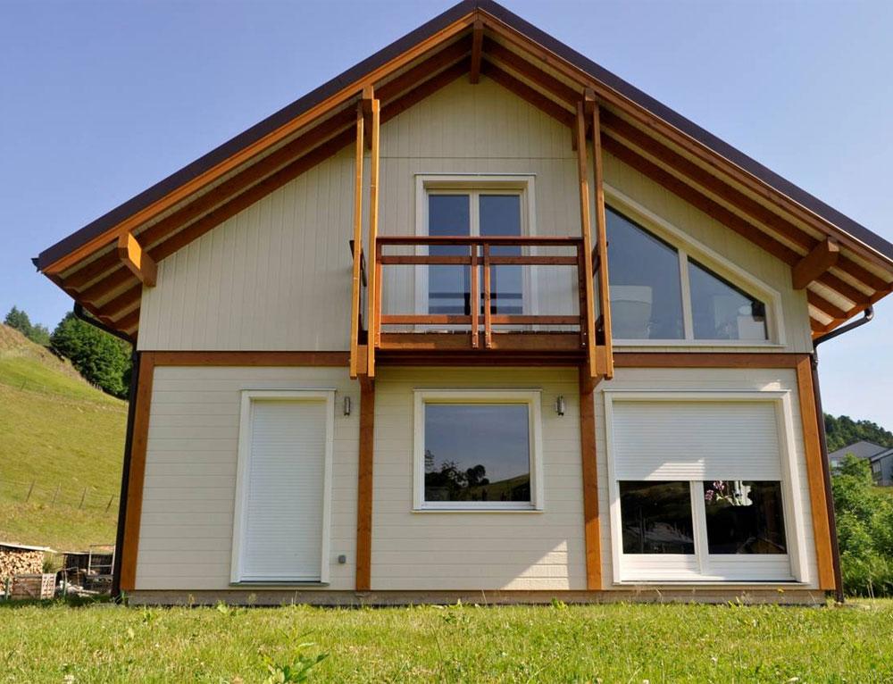 Maison bois traditionnelle style poteau poutre nos maisons ossatures bois maison 2 pans - Id maison bois ...