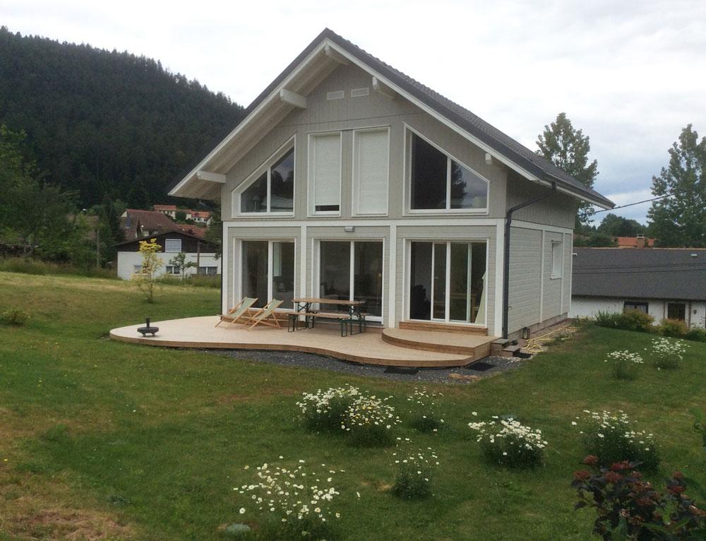 maison a ossature bois avec bardage canexel nos maisons With energie d une maison 8 maison 224 ossature bois avec bardage canexel nos maisons