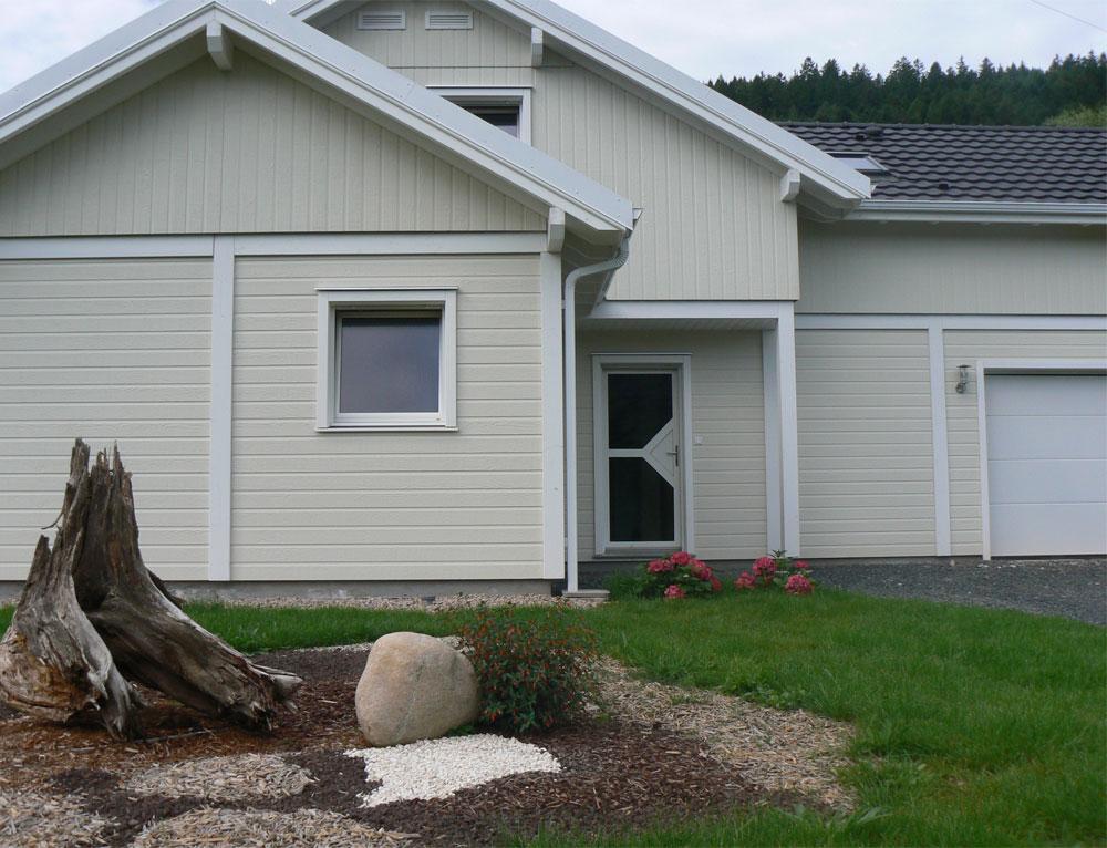 Grande maison bois l gance poteau poutre nos maisons for Maison evolutive prix