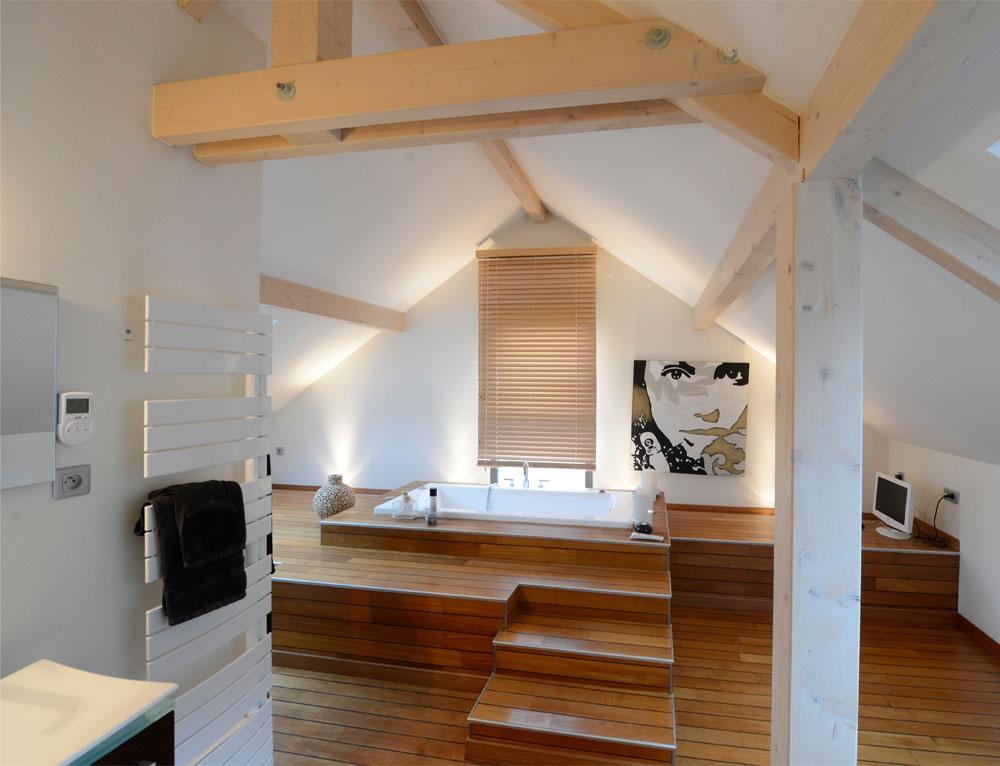 maison d 39 architecte bois avec charpente apparente nos maisons ossatures bois maison 2 pans. Black Bedroom Furniture Sets. Home Design Ideas