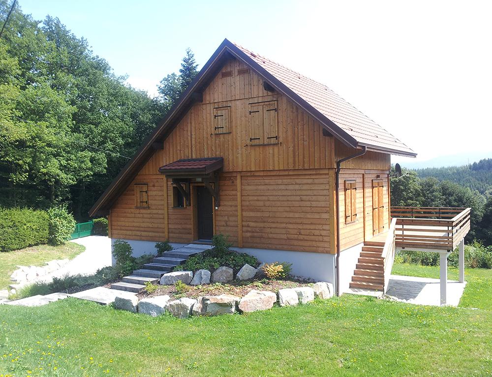 Maison ossature bois bardage pic a nos maisons for Construction modulaire en bois