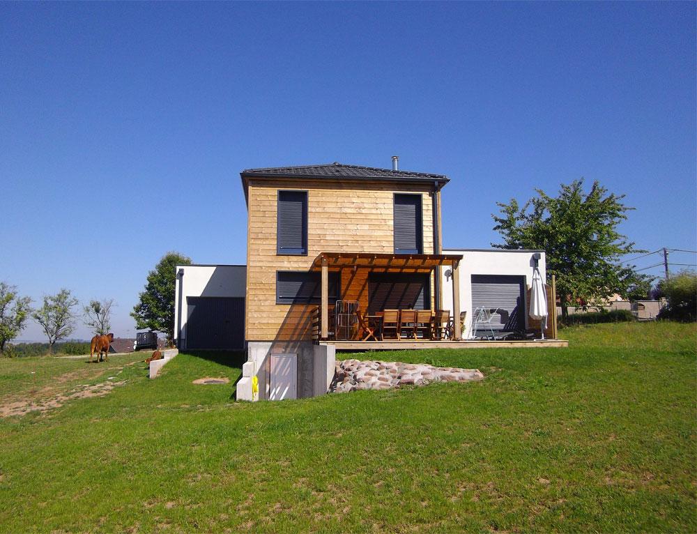 Maison toit plat bois maison pour petit budget matrise for Budget maison bois