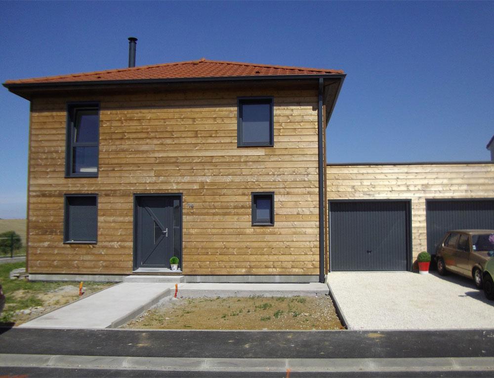 maison bardage bois - Modele Maison Cubique Plain Pied Lorraine