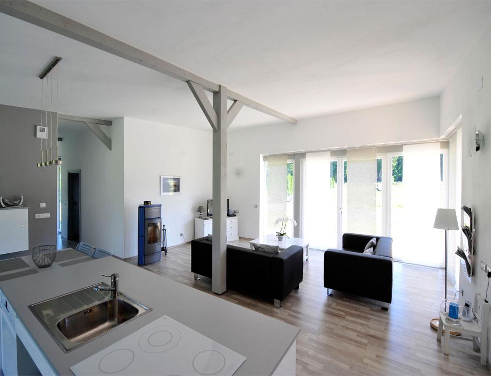 Maison bois plain pied type loft nos maisons ossatures for Decoration interieur de maison en bois