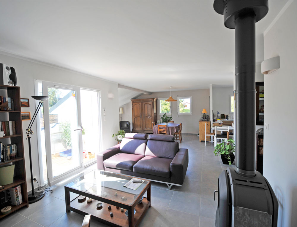 Maison bois de plain pied avec bardage canexel nos maisons for Constructeur maison bois contemporaine 77