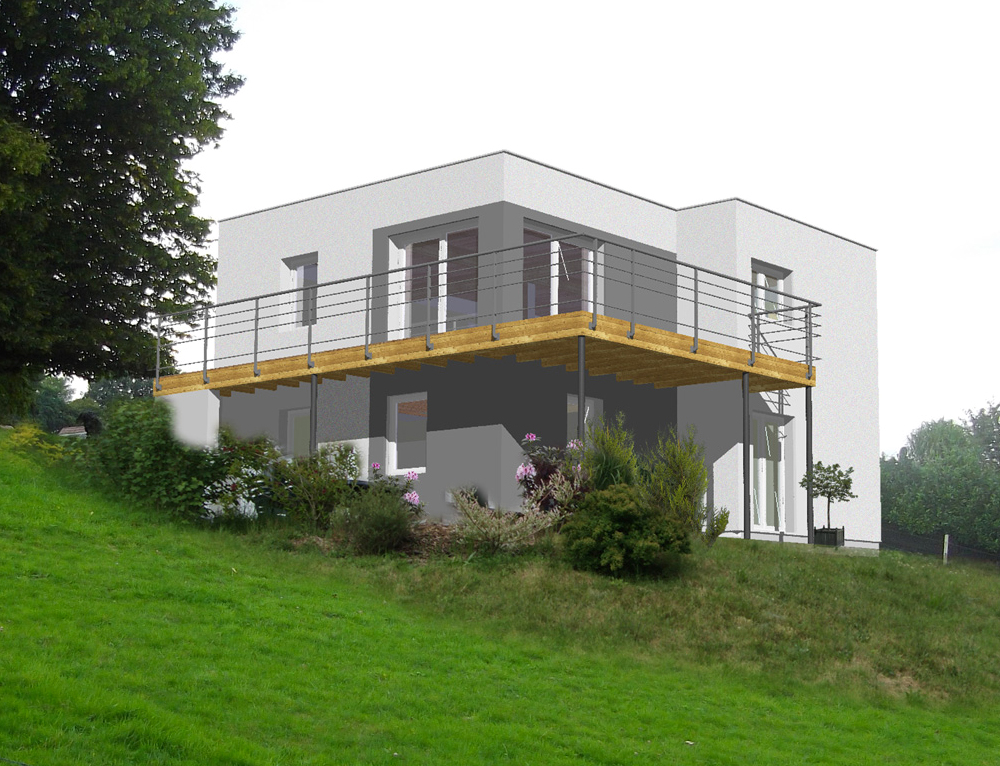 Maison cubique toit plat nos projets maison cubique - Maison cubique plain pied ...