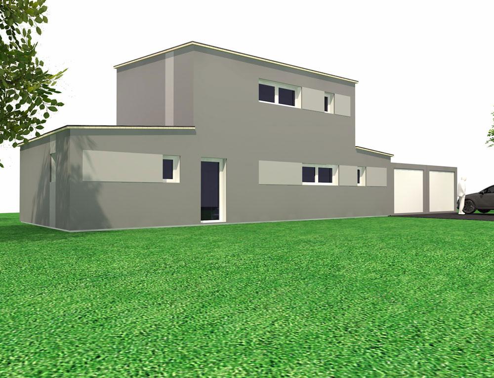 maison cubique toit plat et ossature bois nos projets maison cubique. Black Bedroom Furniture Sets. Home Design Ideas