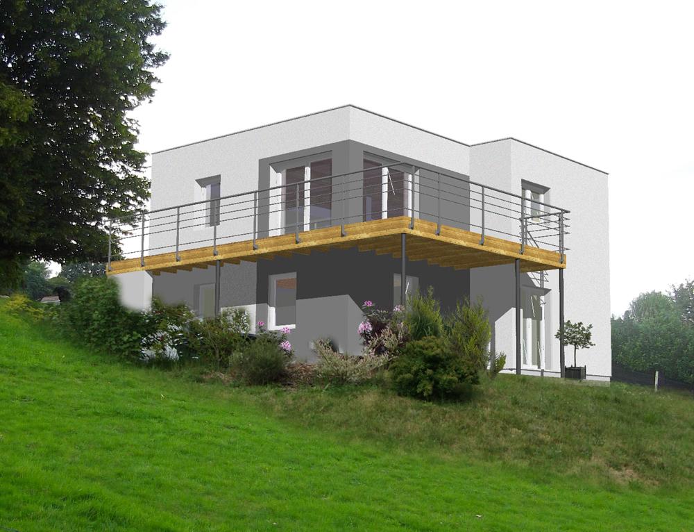 Maison cubique toit plat nos projets maison cubique for Projet maison moderne