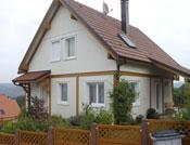 Grande maison bois style alsacien