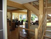 Maison bois traditionnelle style poteau poutre