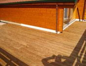 Agrandissement d'une terrasse côté latéral