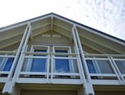 ajout attrayant pour ce balcon transparent