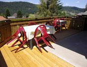 belle terasse avec vue panoramique sur les Vosges