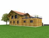 Chalet avec terrasse ossature et bardage bois