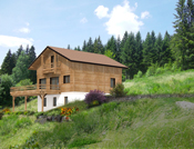 Chalet traditionnel, bardage bois