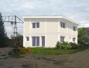 Maison à ossature bois et toit plat